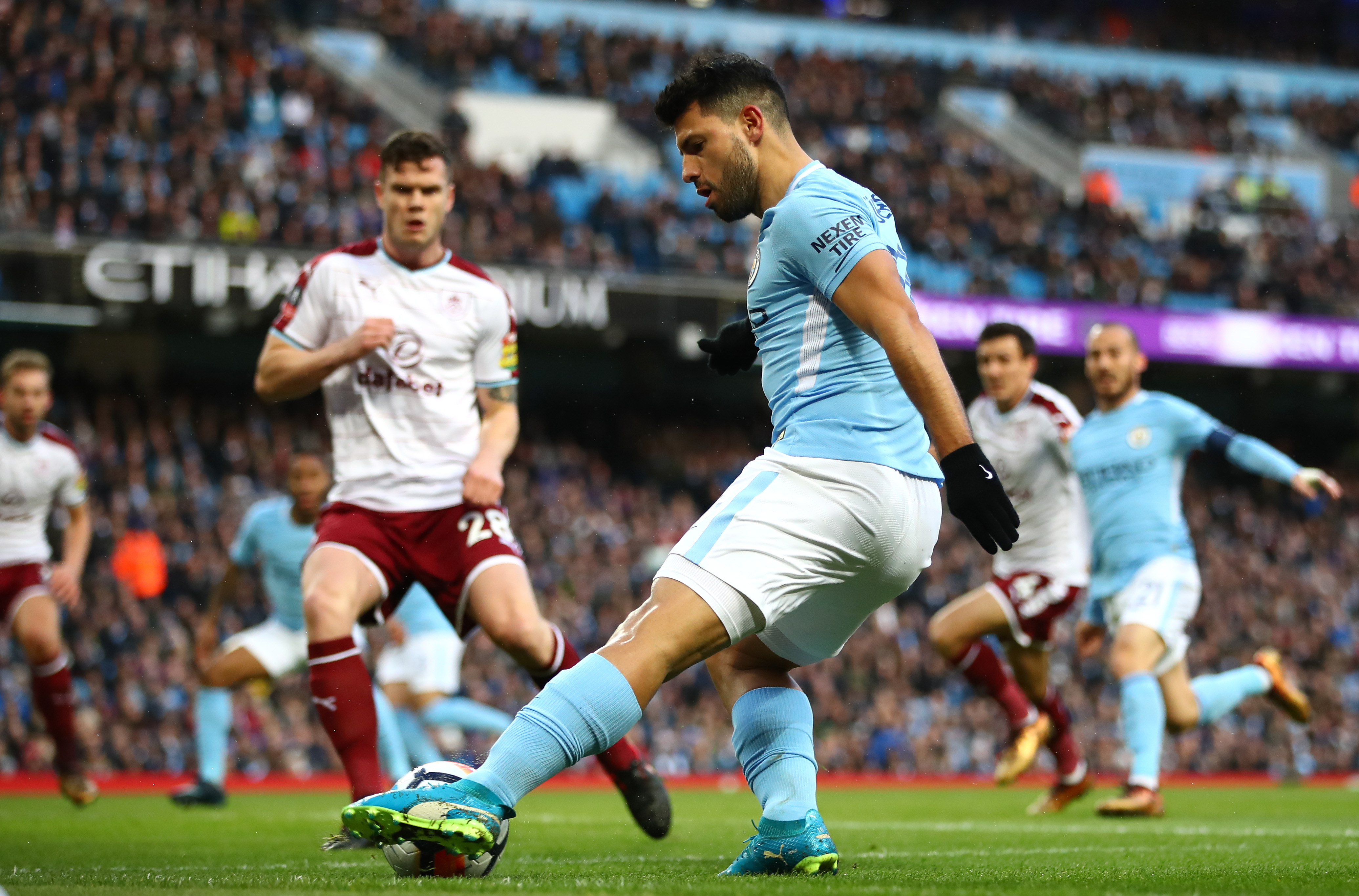 Manchester City come from behind to put four past Burnley
